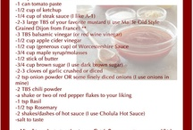 Recipes to Try - Sauces/Marinades