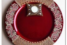 Mehndi plates, candles & accessories