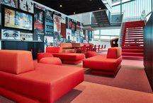 Chassé Theater Breda / Flexwerken in het culturele hart van Breda. Lensvelt leverde in de zomer van 2015 diverse meubelproducten uit eigen huis naar ontwerp van M+R interior architecture.