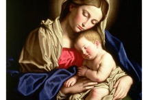 Madonna and Child  by great painters . / Works of art about Madonna and Child.