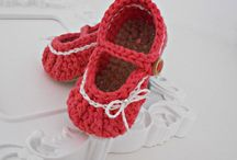 crochet baby shoes / baby booties, shoes, sandals