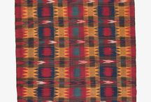 Sofreh / Sofreh Kilims are stunningly gorgeous kilims that are meant to be used as a clean surface upon which to present food. They tend to be a colorful mix of contrasting colors to add a striking element to the dinner table.