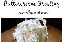 Homemade butter frosting