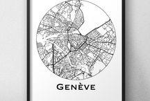 Affiches de villes de Suisse