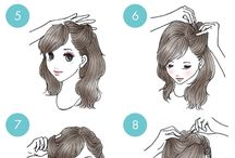 Hair tutorial illustrations