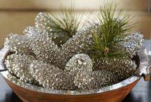 glassy pinecones