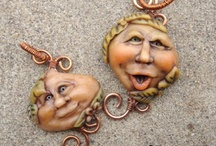 Clay faces of all kinds