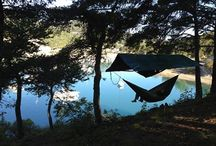 Hammocking | Where to? / Be creative. You can set up your Hammock anywhere. Find spots where you didn't imagine to hang your hammock yet.