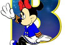 Alfabeto personajes de Disney