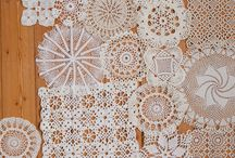 CRAFTY IDEAS...DOILY AND LACE IDEAS....