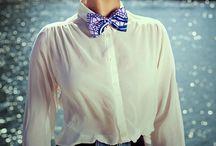 féminine en noeud papillon