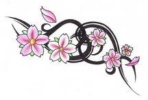 Bloemen tattoo