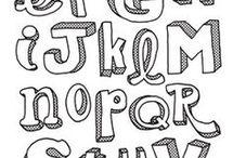 Hand letter lettertypes