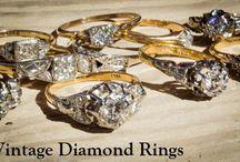 Vintage and Antique Engagement Rings / Vintage and Antique Engagement Rings. Beautiful vintage Diamond finger-bling!