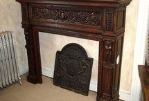 fireplace mantels/inserts