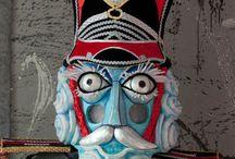 Nutcracker / Design and Implementation of masks for for the scenic spectacle Nutcracker for Crystal City Theater, Arlington, VA, by Vanya Vasileva. vanyart.com/nutcracker.html