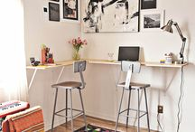 Standing + Treadmill + Small Space/Folding/Portable Desks resources/info./design elements / Standing Desks + Treadmill Desks--some of these are not actually designed as standing desks, but could be easily realized as such as well. / by Ashley Bell