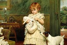 Charles Burton Barber / English painter (1854-1894)
