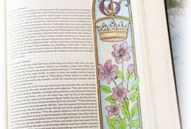 Esther--Bible Journaling by Book / Bible Journaling examples from the book of Esther