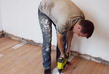 Plywood flooring..