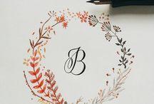 calligraphy / Taky milujete ty květinové věnce jako já?
