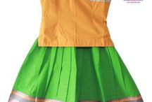 Cotton Pavadai Lehenga / Cotton wear are the very comfortable wear for kids .. We are introducing some of the Beautiful South India style Cotton Pavadai ( Lehenga  / Ghagra) for kids