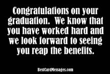 Graduation Wishes, Messages, and Quotes / by BestCardMessages.com