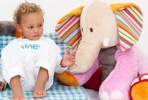 Kids Stuffed Toys / Funky and colourful stuff toys. Different textures and coulours create a wonderful toy. With gorgeous soft fabric, corduroy and knit. Cotton. Polyester. Washable.