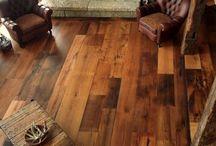 beschilderde houten vloeren / vloeren