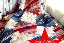 QUILTS: Memorial day, Flag Day, 4th of July Patriotic