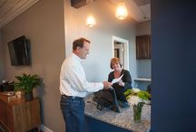 New Patient Experience / When you step into our new office, you'll know we're not just another dental practice. First, you'll be welcomed into our warm and soothing setting by a friendly member of our team. As your treatment begins, you'll find that we've stocked our office with so many stress-reducing amenities that you'll wonder why you ever worried about going to the dentist!