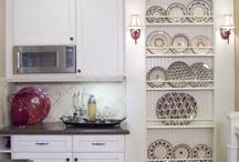 Shelves and plate racks