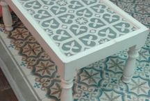 cement tile furniture, table