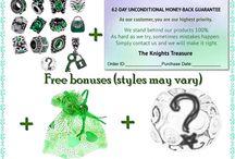 Green Charm Bracelet Beads / Emerald Green European Style Charm Bracelet Beads