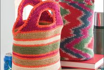 Crocheted lunch bags