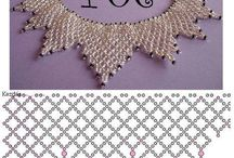 Netted necklaces