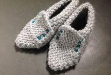 Sapatilhas ...Botas Crochê