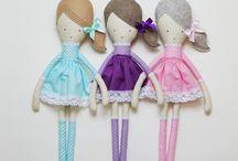 laLoosia / rag dolls, fabric dolls, sewing, diy, handmade toys