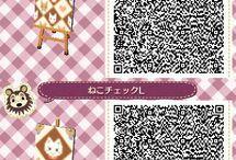 acnl wallpaper/fabric qr codes