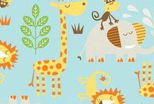 Safari themed fabrics and designs