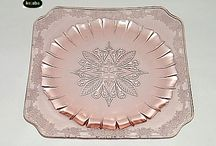 my pink depression glass / by Beverly Dalton
