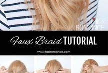 half ponytail tutorials