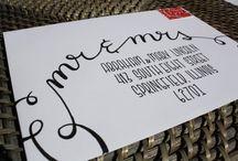 Hand lettering envelopes