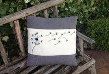 Underthekowhaitree / Upcycled wool cushions