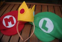 Video Games / Make Costumes for Mario, Peach, and Toad and the other nintendo characters.