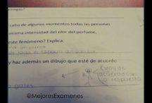 exámenes