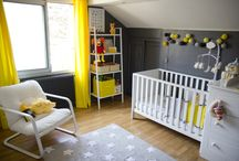 Chambre bébé neutre Grise & Jaune