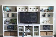 Slim long living room