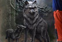 rzezba wilk