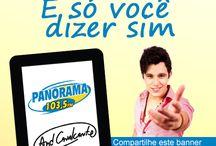 Case Panorama FM / Alguns trabalhos para Rádio Panorama FM de Itajubá